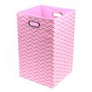 <strong>Modern Littles</strong> Rose Zig Zag Folding Laundry Basket