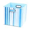 Modern Littles Sky Stripes Folding Storage Bin
