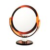 Danielle Creations Tortoise 10x Round Vanity Mirror