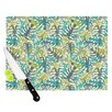 KESS InHouse Tropical Leaves by Julia Grifol Cutting Board