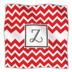 KESS InHouse Monogram Chevron Red Microfiber Fleece Throw Blanket