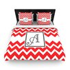 KESS InHouse Monogram Chevron Duvet Cover Collection