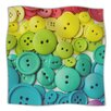 KESS InHouse Cute As A Button Microfiber Fleece Throw Blanket