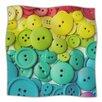 Cute As A Button Microfiber Fleece Throw Blanket