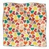 KESS InHouse Little Hearts Microfiber Fleece Throw Blanket