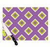 KESS InHouse Purple Splash Tile Cutting Board