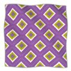 KESS InHouse Purple Splash Tile Microfiber Fleece Throw Blanket