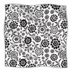 KESS InHouse Cherry Floral White Microfiber Fleece Throw Blanket