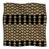 KESS InHouse Deco Angles Gold Black Microfiber Fleece Throw Blanket