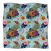 KESS InHouse Tropical Floral Fleece Throw Blanket