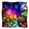 KESS InHouse Fairy Tale Alice In Wonderland Microfiber Fleece Throw Blanket