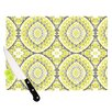 KESS InHouse Yellow Tessellation Cutting Board