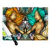 KESS InHouse Mermaid Twins Cutting Board