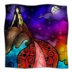 KESS InHouse Fairy Tale Little Mermaid Microfiber Fleece Throw Blanket