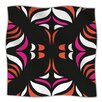 KESS InHouse Magenta Orange Hawaiian Retro Microfiber Fleece Throw Blanket