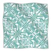 KESS InHouse Swirling Tiles Teal Microfiber Fleece Throw Blanket