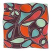 Retro Swirl Microfiber Fleece Throw Blanket