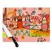 KESS InHouse Happy Town Cutting Board