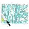 KESS InHouse Mint Trees Cutting Board