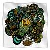 KESS InHouse Multicolor Life Microfiber Fleece Throw Blanket