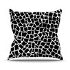 KESS InHouse British Mosaic Outdoor Throw Pillow