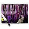 KESS InHouse Bamboo Bunny Cutting Board