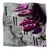 KESS InHouse Shoes in SF Microfiber Fleece Throw Blanket