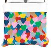KESS InHouse More Hearts Duvet Cover