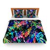 KESS InHouse Flora Splash by Gabriela Fuente Fleece Duvet Cover