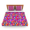 KESS InHouse My Colourful Circles by Julia Grifol Fleece Duvet Cover