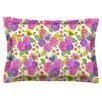 KESS InHouse My Birds and My Flowers by Julia Grifol Cotton Pillow Sham