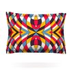 KESS InHouse Stained Glass by Danny Ivan Cotton Pillow Sham