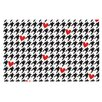 KESS InHouse Spacey Houndstooth Heart by Empire Ruhl Decorative Doormat