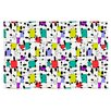 KESS InHouse My Happy Squares by Julia Grifol Decorative Doormat