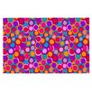 KESS InHouse My Colourful Circles by Julia Grifol Decorative Doormat