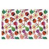 KESS InHouse Garden Floral by Jane Smith Plants Bugs Decorative Doormat