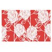 KESS InHouse Protea by Gill Eggleston Flowers Decorative Doormat