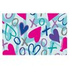 KESS InHouse Hearts a Flutter by Emine Ortega Decorative Doormat