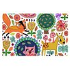 KESS InHouse Woodland Critters by Jane Smith Colorful Cartoon Decorative Doormat