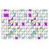 KESS InHouse Squares by Michelle Drew Abstract Geometry Decorative Doormat