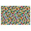 KESS InHouse Colour Blocks by Project M Geometric Rainbow Decorative Doormat