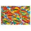 KESS InHouse Go Left Crazy by Matthias Hennig Decorative Doormat