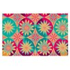 KESS InHouse Happy Flowers by Nika Martinez Floral Abstract Decorative Doormat