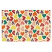 KESS InHouse Little Hearts by Louise Machado Decorative Doormat