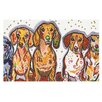 KESS InHouse Maksim Murray Enzo Ruby & Willy by Rebecca Fischer Daschunds Decorative Doormat