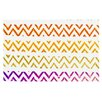KESS InHouse Chevron Add by Sreetama Ray Warm Chevrons Decorative Doormat