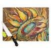 KESS InHouse Sunflower by Brienne Jepkema Flower Cutting Board
