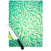 KESS InHouse Teal Spring Paisley by Caleb Troy Cutting Board