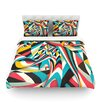 KESS InHouse Don't Come Close Light by Danny Ivan Abstract Cotton Duvet Cover