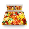KESS InHouse Floral Fantasy II by Ebi Emporium Light Cotton Duvet Cover